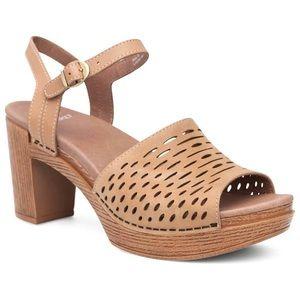 DANSKO Denita Perforated Nubuck Heeled Sandals 40